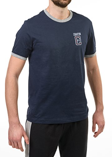 Champion M Gymnasium T-Shirt Bicolor, Blu Navy, L
