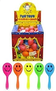 12 x Mini Smiley Maracas