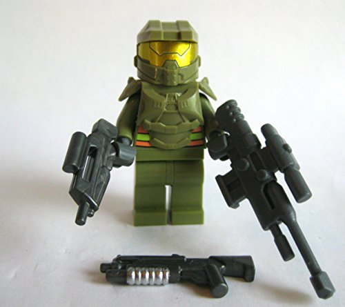 Custom-Spartan-Space-Marine-Minifigure-Olive-Green-Halo-Compatible