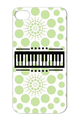 Shock Absorption Singing Piano Music Sound Play Miscellaneous Music Beat Chords Dance Artist Keyboard Black For Iphone 4S F1 Protective Hard Case