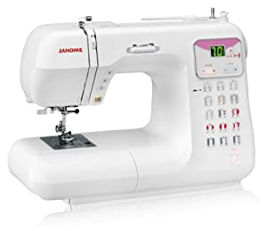 Janome DC4030 Pink Ribbon Computerized Sewing Machine with 30 Built-In Stitches