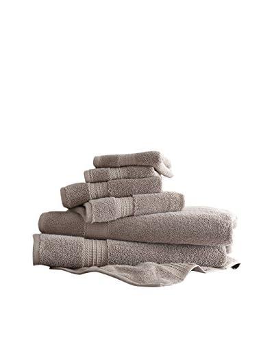 Luxury Home 6-Piece Egyptian Cotton Towel Set, Taupe