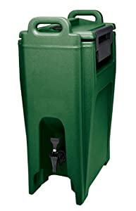 Cambro UC500-519 Ultra Camtainer Polyethylene Insulated Beverage Carrier Cart, 5-1/4-Gallon, Green