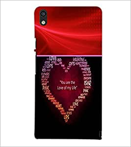 PrintDhaba Typographic Heart D-4767 Back Case Cover for HUAWEI ASCEND P6 (Multi-Coloured)