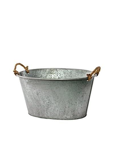 Skalny Galvanized Tin Tub, Silver