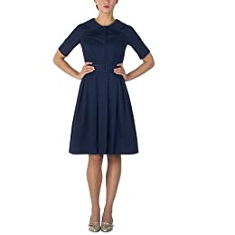 Isaac Mizrahi for Target® Pleated Shirtwaist Dress - Navy