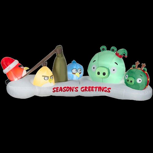 "Christmas Decoration Lawn Yard Inflatable Airblown Angry Bird And Bad Piggie 42"" Tall front-411405"
