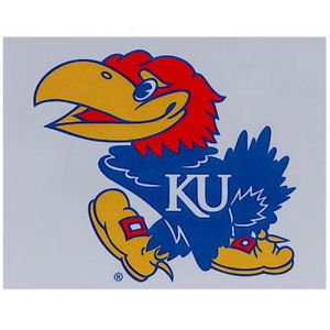 "NCAA University of Kansas Multi-Use Colored Decal, 5"" x 6"" - 1"