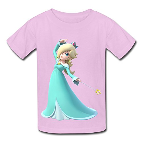 Kazzar Kid's Rosalina Mario Party Round Collar T Shirt L