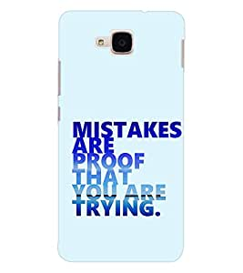 EPICCASE Keep trying Mobile Back Case Cover For Huawei Honor 5c (Designer Case)