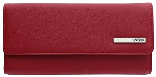 kenneth-cole-reaction-womens-saffiano-clutch-wallet-trifold-w-coin-purse-saffiano-red