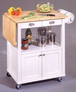Cheap Farmhouse Kitchen Islands with Drop Leaf Bar (B0017LVX4I)
