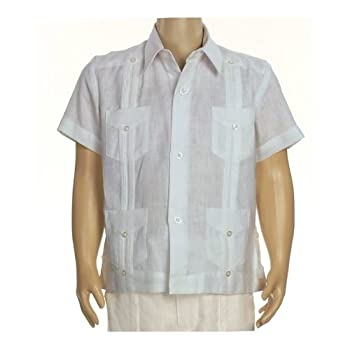 Boys linen short sleeve guayabera in light blue. Final sale