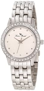 Lucien Piccard Women's 11696-22S Monte Velan White Textured Dial Stainless Steel Watch