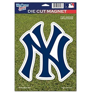 New York Yankees Official Mlb 6 Inch X 9 Inch Car Magnet front-671979
