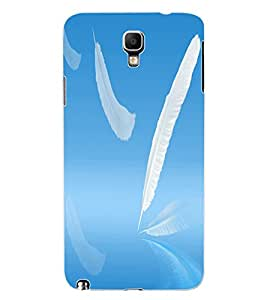 ColourCraft Feathers Design Back Case Cover for SAMSUNG GALAXY NOTE 3 NEO DUOS N7502