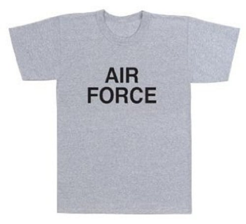 """61020 """"Air Force"""" Grey Physical Training T-Shirt (Small)"""