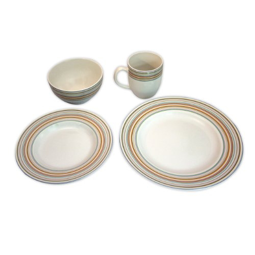 Spectrum 16-pc. Dinnerware Set - Stripes