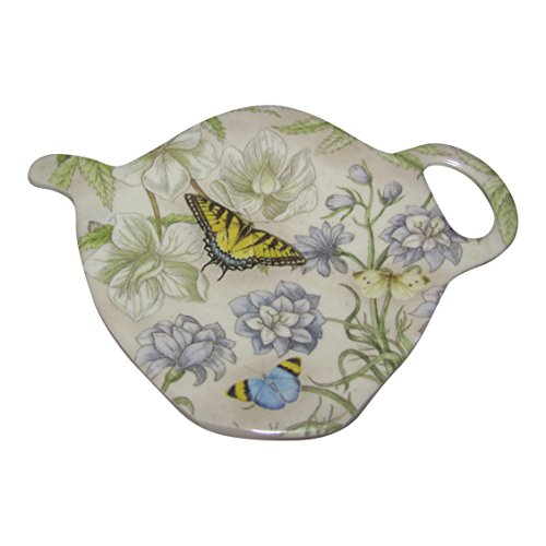 Best Prices! Melamine Tea Bag Holder By Keller Charles - Set of 2 (Yellow Butterfly)