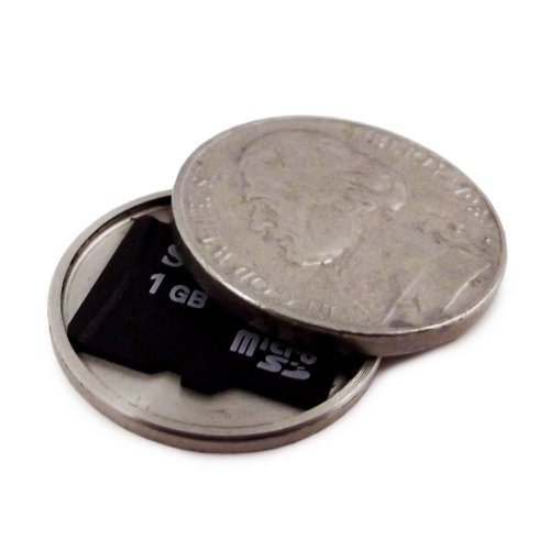 Micro SD Card Covert Coin - Secret Compartment Spy Gadget (US Nickel) (Spy Electronics compare prices)