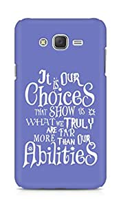 AMEZ our choices show what we are Back Cover For Samsung Galaxy J7