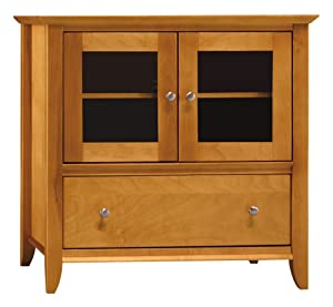 bush furniture bush furniture napa small tv console light cherry finish kitchen. Black Bedroom Furniture Sets. Home Design Ideas