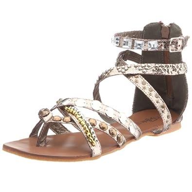 sandalen billige buffalo girl 218409 metallic snake. Black Bedroom Furniture Sets. Home Design Ideas