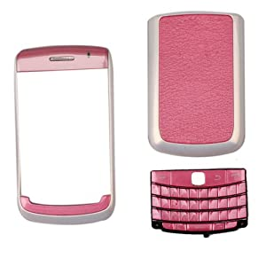 4-piece Housing for Blackberry Bold 9700 Pink with Pearl White