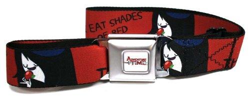 Adventure Time Seatbelt Belt - Marceline - I Eat Shades Of Red Design 2