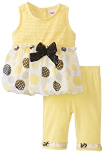 Little Lass Baby-Girls born 2 Piece Skimmer Set Bubble Hem Printed Chiffon by Little Lass