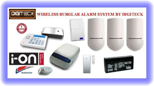 Tc100- Scantronic Ion-16 Wireless Intruder Alert Pet Immune Burglar Alarm System front-564120