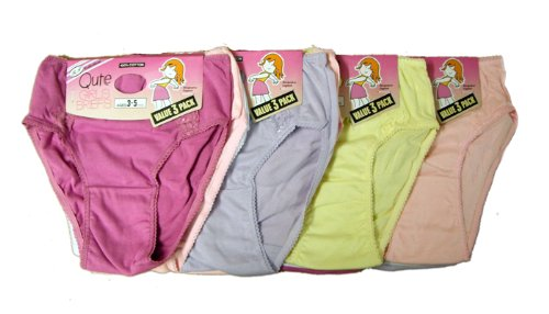 12 Pairs 100 % Cotton Briefs With Side Lace Assorted Colors