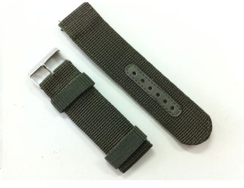 INFANTRY Military Army Green Nylon Fabric Canvas Watch Band Strap 22mm Strong Heavy Duty #NYS-G-22
