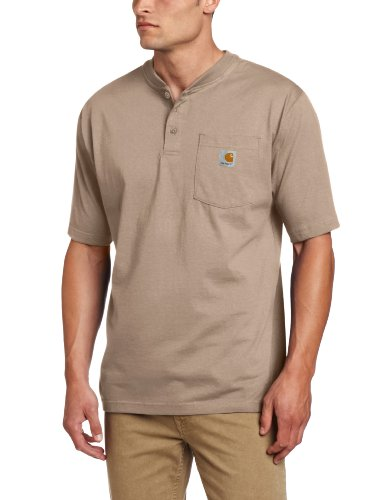 Carhartt Men's Shortsleeve Workwear Henley T-Shirt K84,  Desert,  XXX-Large Regular
