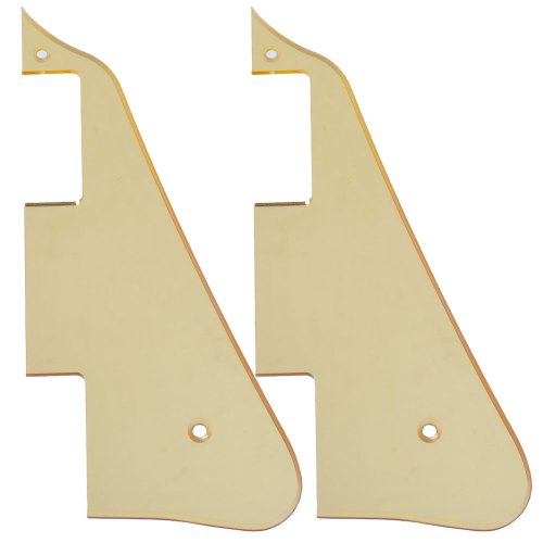 2Pcs High Quality Gold Mirror Electric Guitar Pickguard For Gibson Les Paul Guitar Replacement