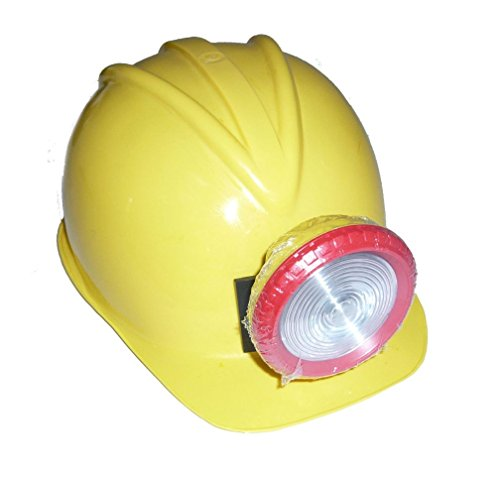 [Popcandy Construction Helmet With Light Miners Hat & Light Cavers Hat 17397] (Gold Miner Costume Accessories)