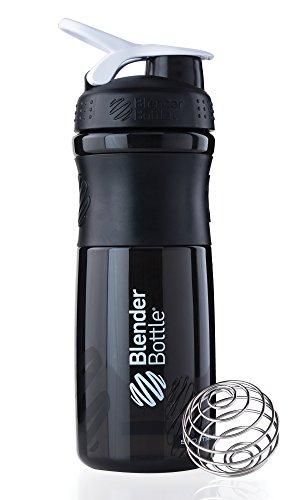Botella Mescladora  SportMixer 28 onzas, negro y blanco