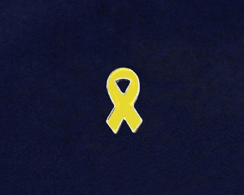 Yellow Ribbon Pin - Small Flat Ribbon Pin (50 Pins)