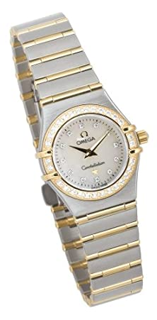 buy Omega Women'S 1267.75.00 Constellation Mini Diamond Accented Watch
