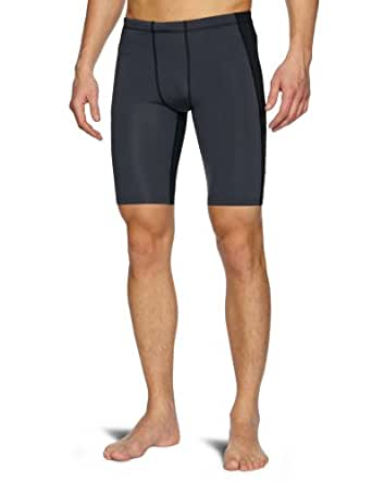 2XU Men's Elite Compression Shorts (Black/Steel, Small)