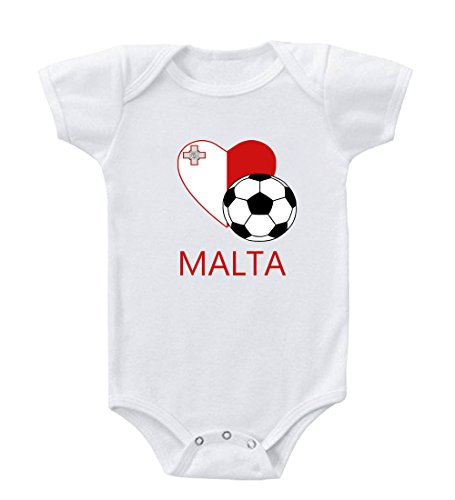 Maltese Soccer Malta Futbol Football Infant Toddler Baby Bodysuit One Piece