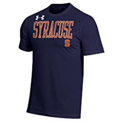 NCAA Syracuse Orangemen Mens Under Armour Short Sleeve Charged Cotton Performance Tee by Under Armour