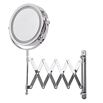 Beautiful  Wall Mounted Dual Side Magnification MakeUp Bathroom Shaving Mirror