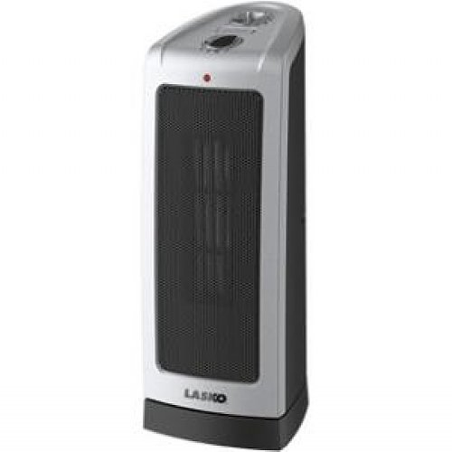 Lasko 5307 Oscillating Ceramic Tower Heater, 16-Inch