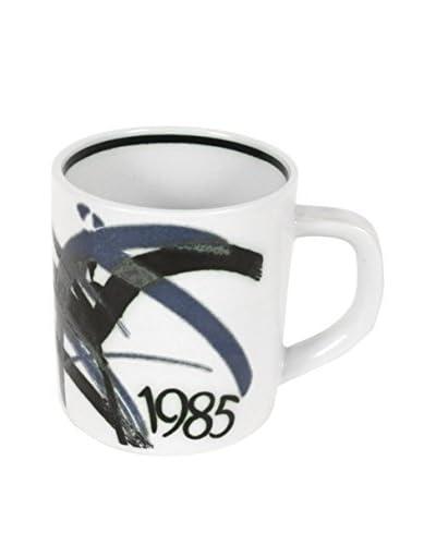 Royal Copenhagen 1985 Annual Mug, White/Blue/Black