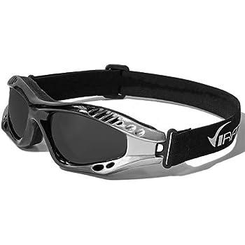 Virage Masque et Lunettes de Soleil - Multisports - Vtt - Moto - Voile - Conduite - Motard / Mod. Storm Bicolore Noir Gris / Taille Unique Adulte / Protection 100% UV400