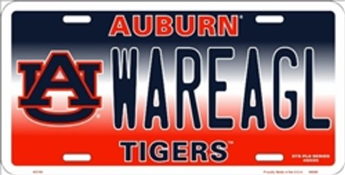 NCAA University of Auburn WAREAGL Tigers Car License Plate Novelty Sign at Amazon.com