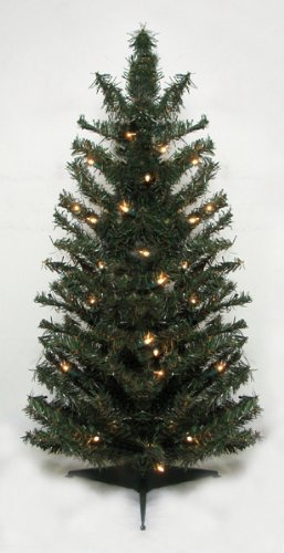 2' Pre-Lit Canadian Pine Artificial Christmas