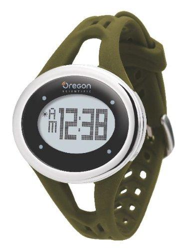 Oregon Scientific, Orologio da polso donna con cardiofrequenzimetro Armbanduhr Herzfrequenzmesser Zone Trainer SE 338M, Verde (olivgrün)