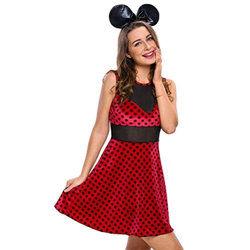 Christmas YeeATZ Women's 2pcs Mistress Mouse Costume(Size,M)